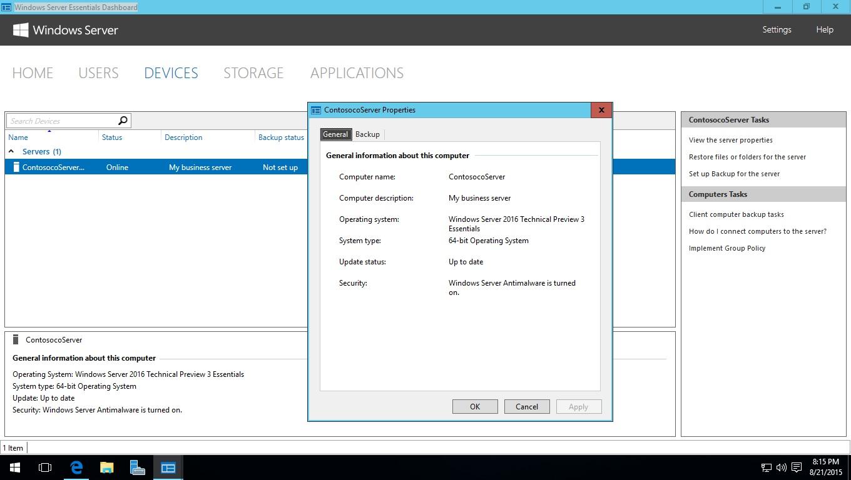 Windows Server 2016 Essentials – Learn That IT